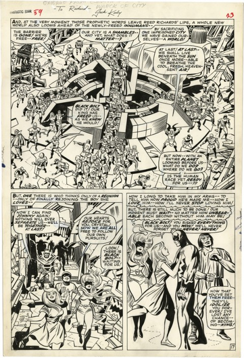Fantastic Four issue 59 page 17 by Jack Kirby and Joe Sinnott.  Source.