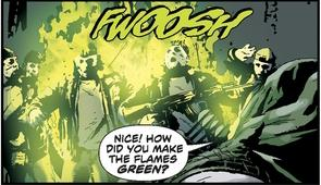 Okay so arrows that ignite green fire…that's pretty awesome.