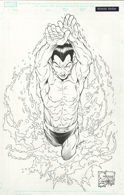 Namor The First Mutant variant cover by Joe Quesada and Dan Miki