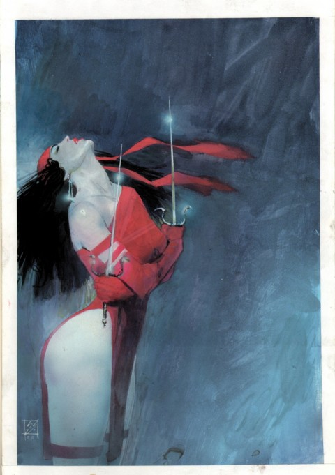 The Comics Journal issue 107 cover by Bill Sienkiewicz.  Source.