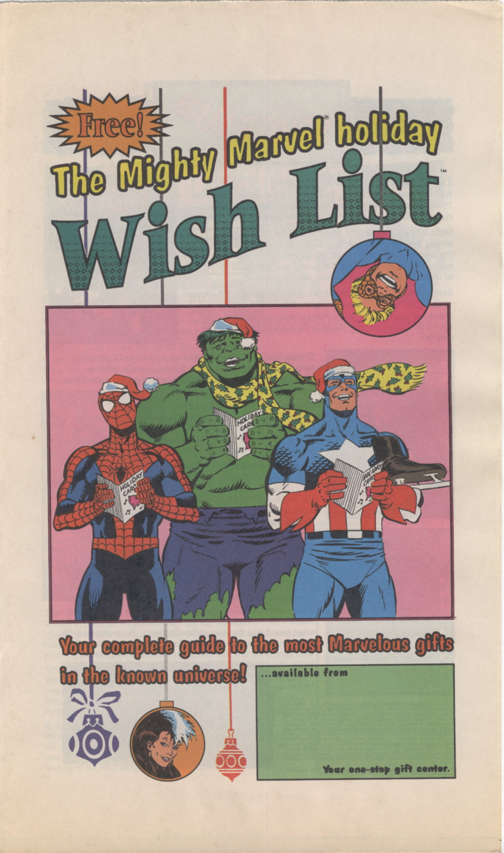Time Capsule: Mighty Marvel holiday Wish List 1990