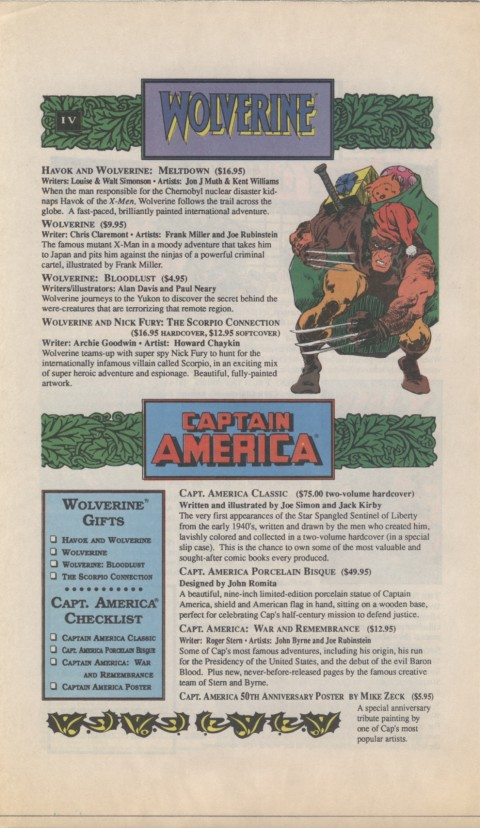 The Mighty Marvel holiday Wish List 1990 Page 4