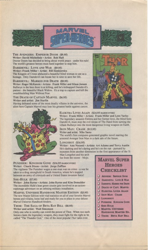 The Mighty Marvel holiday Wish List 1990 Page 5