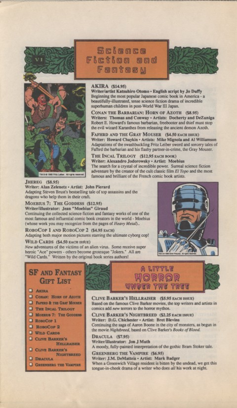 The Mighty Marvel holiday Wish List 1990 Page 6