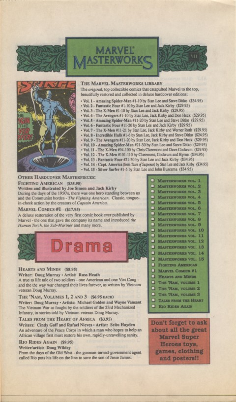 The Mighty Marvel holiday Wish List 1990 Page 7