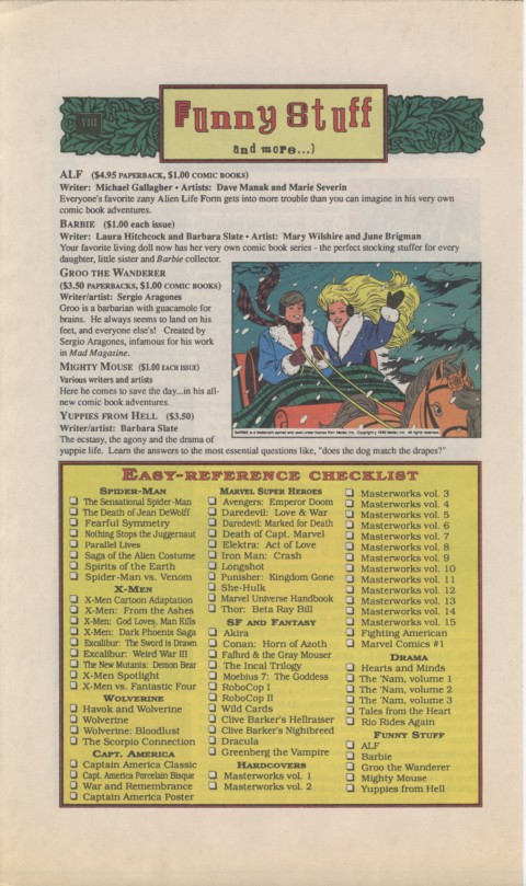 The Mighty Marvel holiday Wish List 1990 Page 8