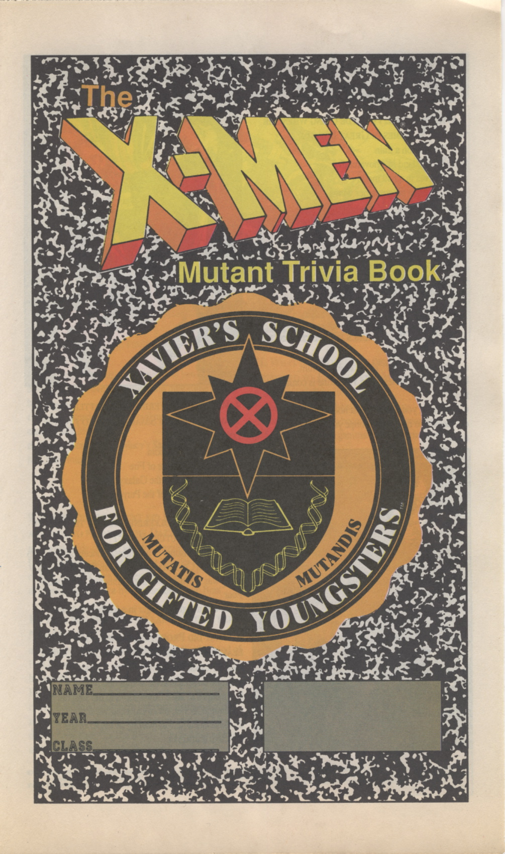 Time Capsule: X-Men Mutant Trivia Book 1990