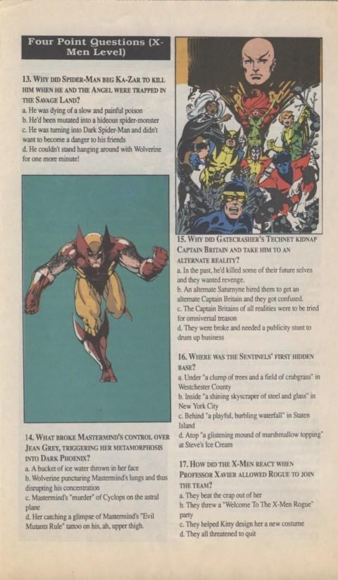 The X-Men Mutant Trivia Book 1990 Page 4