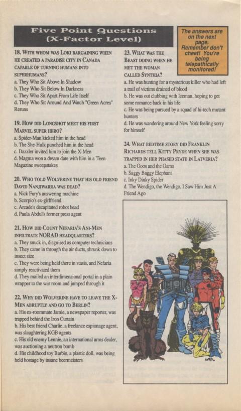 The X-Men Mutant Trivia Book 1990 Page 5