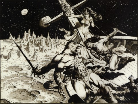 Under the Hurtling Moons by Mark Schultz.  Source.