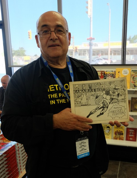 Vince Marchesano with his fanzine from 1968