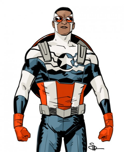 Captain America by Evan Shaner.  Source.