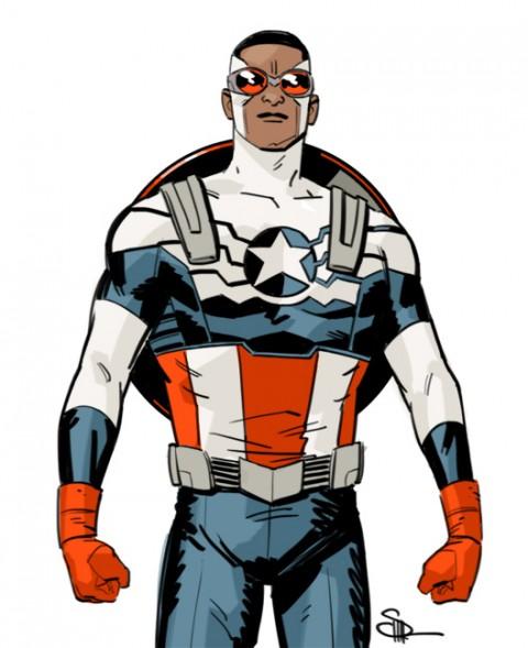 Captain America by Evan Shaner.  Source.