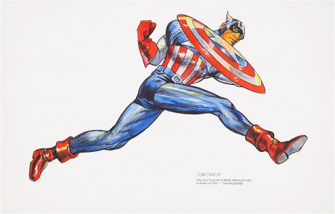 Captain America by Joe Simon.  Source.