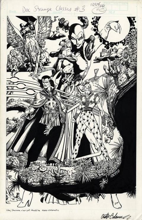 Doctor Strange Classics issue 3 pin-up by Art Adams.  Source.