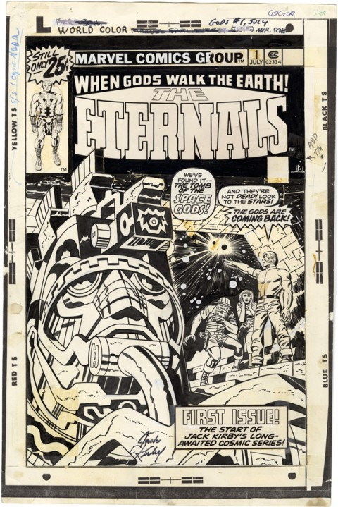 Eternals issue 1 cover by Jack Kirby and Frank Giacoia