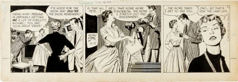 On Stage With Mary Perkins 10-10-1957 Daily by Leonard Starr