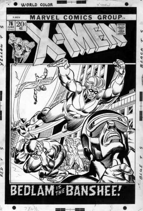 X-Men issue 76 cover by Gil Kane and Joe Sinnott.  Source.