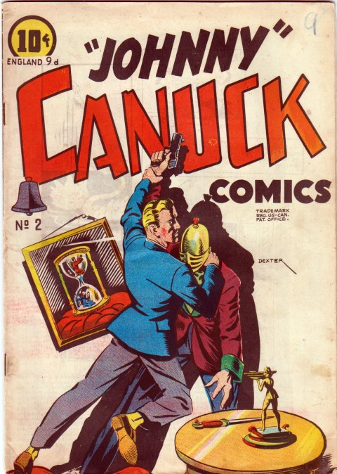 "One-shot issue of ""Johnny"" Canuck comics from 1946 without Johnny on the cover."