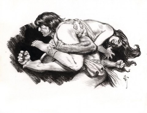 Conan the Barbarian by Mark Schultz.  Source.