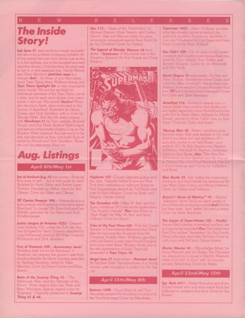 DC Releases August '86 page 2