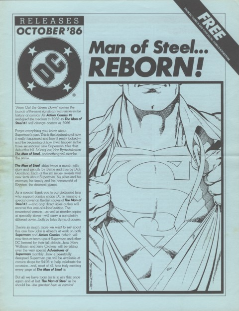 DC Releases October '86 page 1