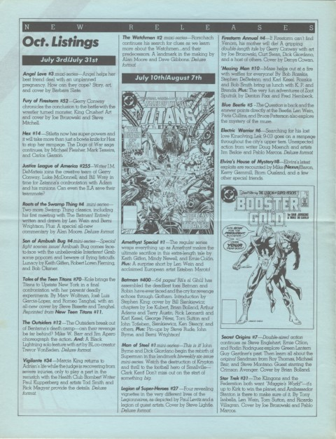 DC Releases October '86 page 2