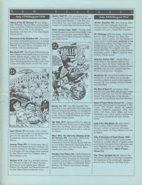 DC Releases October '86 page 3