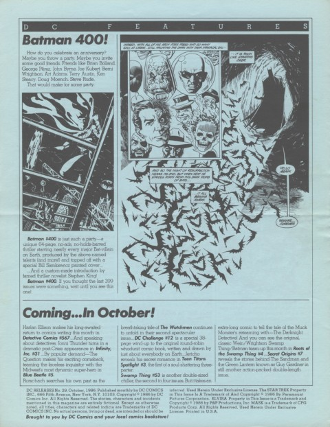 DC Releases October '86 page 4