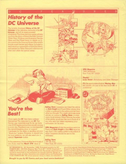 DC Releases September '86 page 4