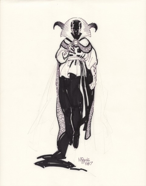 Doctor Strange by Mike Mignola.  Source.