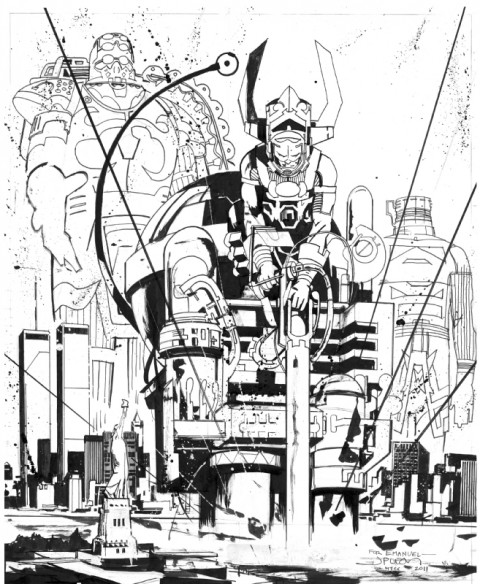 Galactus by John Paul Leon.  Source.