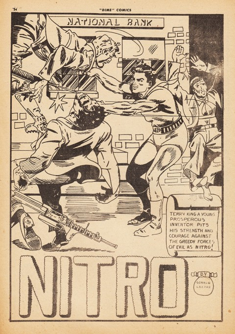 The first appearance of Nitro in Dime Comics 14