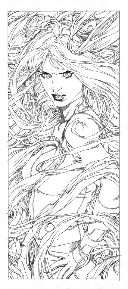 Medusa by Steve McNiven.  Source.