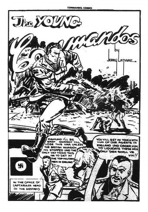 A Young Commandos splash from Commando Comics 13