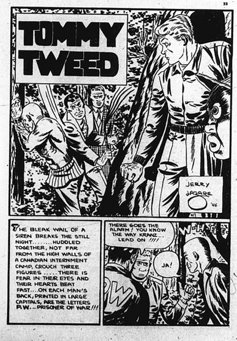 Lazare's Tommy Tweed splash from the last issue of Commando Comics