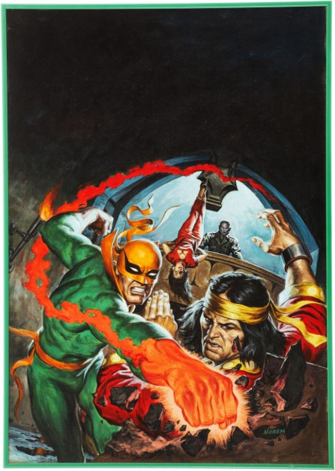 The Deadly Hands Of Kung Fu issue 29 cover by Earl Norem.  Source.