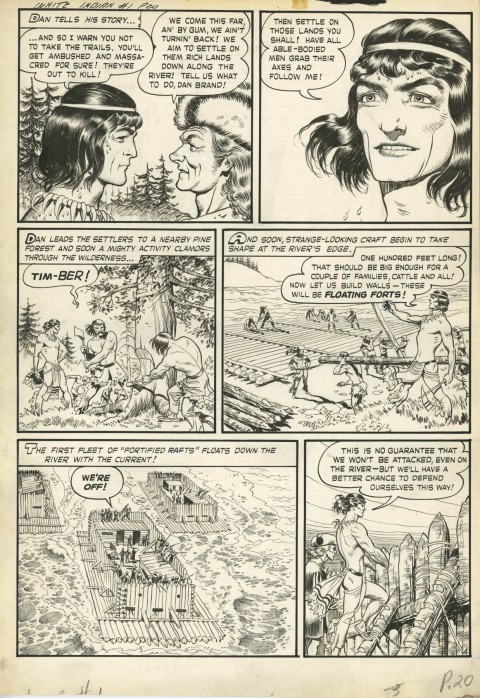 White Indian issue 11 page 4 by Frank Frazetta.  Source.