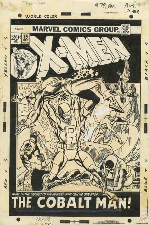 X-Men issue 79 cover by Gil Kane and Frank Giacoia.  Source.