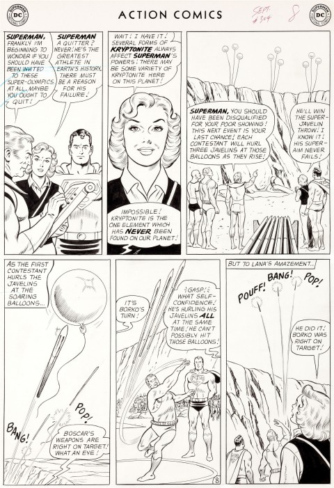 Action Comics issue 304 page 8 by Curt Swan and George Klein.  Source.