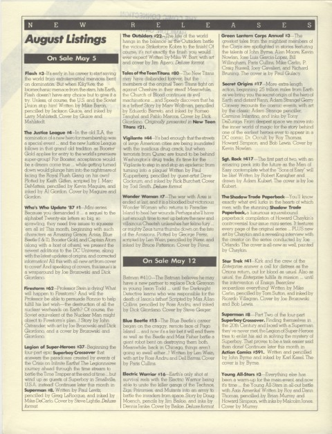 DC Releases August 87 Page 2