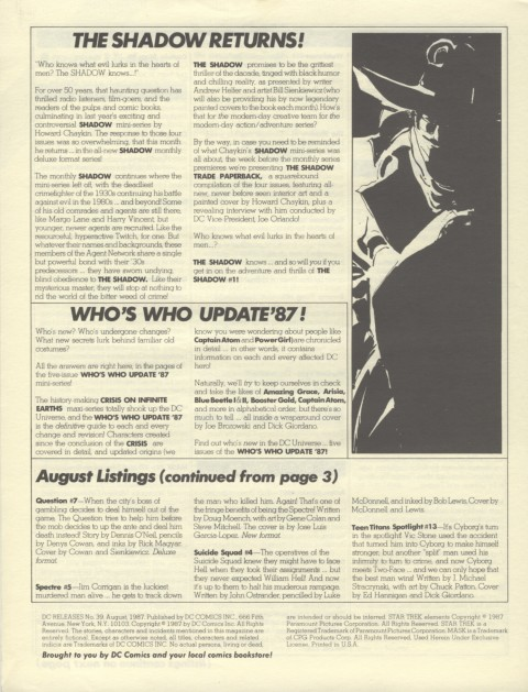DC Releases August 87 Page 4