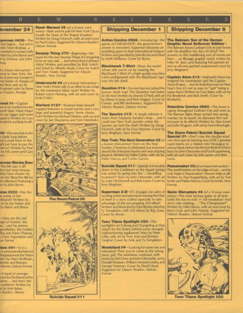 DC Releases March 88 Page 3
