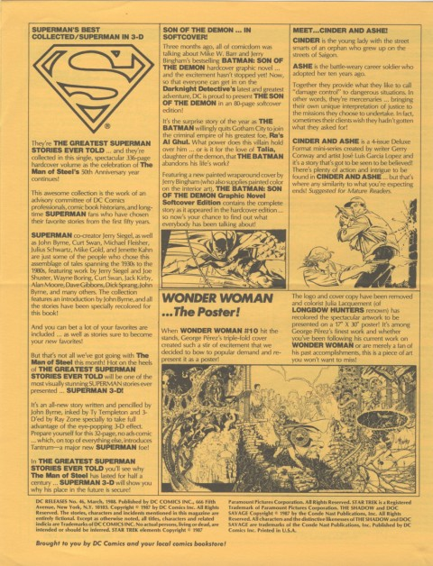 DC Releases March 88 Page 4