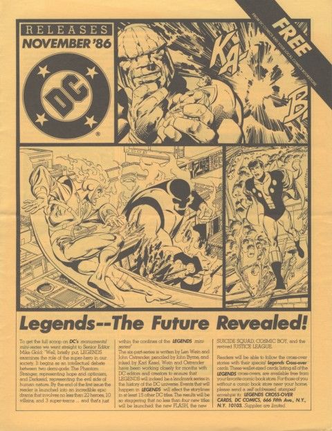 DC Releases November '86 page 1