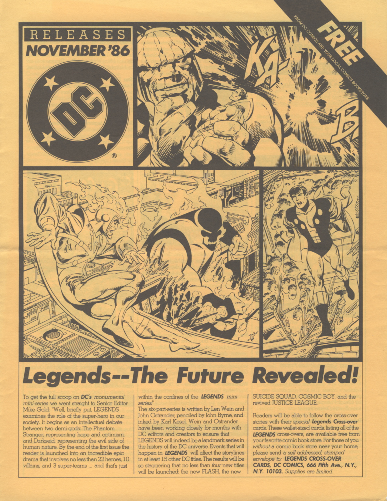 Time Capsule: DC Releases November '86