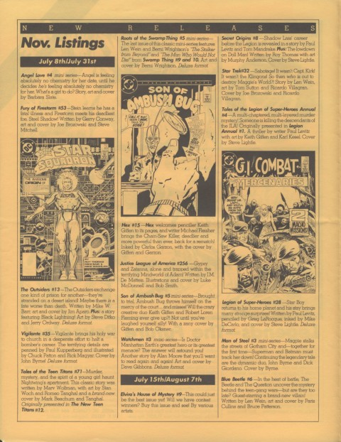 DC Releases November '86 page 2