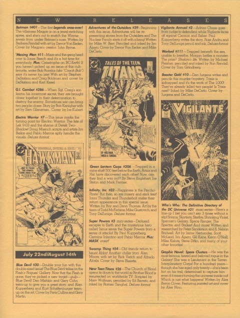 DC Releases November '86 page 3