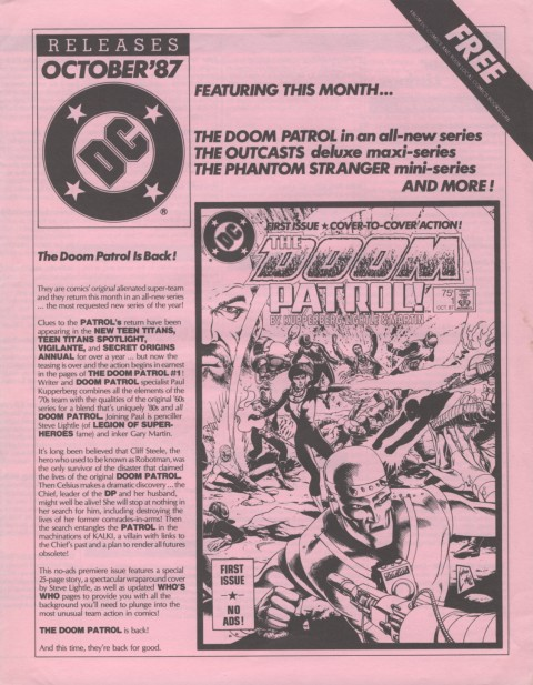 DC Releases October 87 Page 1