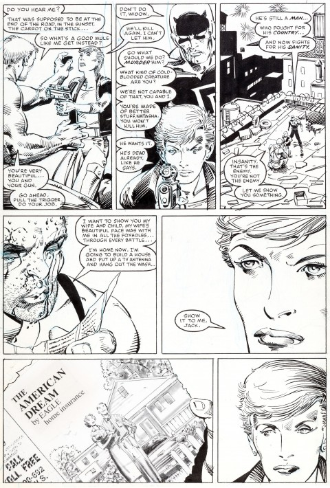 Daredevil issue 236 page 21 by Barry Windsor-Smith and Bob Wiacek.  Source.